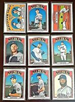Lot of 9 2021 Topps Heritage NY METS Baseball cards, Jacob DeGrom, Pete Alonso