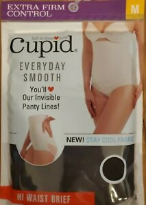 Cupid Women's EXTRA FIRM Control Cooling High Waist Brief BLACK Stay Cool Fabric
