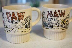 Maw & Paw Japan Come Git Yer Coffee Ready Mugs Cups