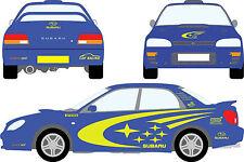 Fits Subaru Impreza WRC Full Set Stickers Decal Racing Car Graphics