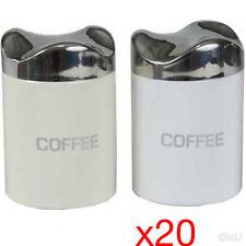 20 X Filtro Caffè 10 cm Storage titolare Barattoli Coperchi in Acciaio Cucina Contenitori di Latta