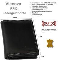 RFID Geldbörse Brieftasche Portemonnaie VIEENZA Geldbeutel Geldtasche Voll-Leder