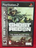Tom Clancy's Ghost Recon  PS2 Playstation 2 COMPLETE Game 1 Owner Near Mint Disc