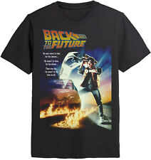 BACK TO THE FUTURE Marty Mcfly Classic Film Poster T-SHIRT OFFICIAL MERCHANDISE