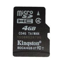4GB Kingston MicroSD SDHC Card 4GB TF Card Memory Card  Trans flash C4 Class 4