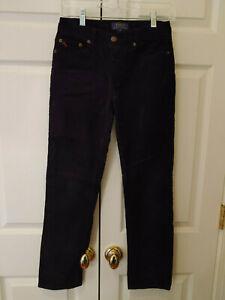 Youth Boy Ralph Lauren Polo Black Corduroy Pants Size 14