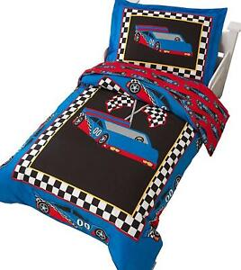 KidKraft Race Car Bedding for Toddlers and Young Children
