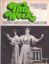 November 13, 1982 THIS WEEK IN THE NATION'S CAPITAL Karen Allen Jane Alexander
