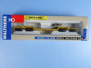 Walthers Gold Line 81' 4-Truck Depressed Center Flat Car GEX #1022 NEW B8