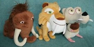Ice Age- Manny - Diego - Scat - Movie 2002 Plushes soft toy