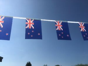 Flag of New Zealand Fabric Bunting 5.5m 20 Flags Free 1st Class Postage!
