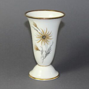 GERMAN ART DECO   Trumpet vase with gold and silver decor (1930)