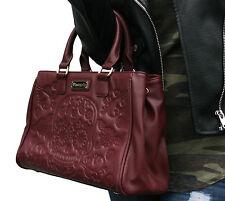 Loungefly Sugar Skull Day of the Dead Vegan Burgundy Shoulder Bag Handbag Purse