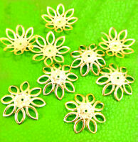 50pcs Wholesale Gold Plated Flower Bead Caps Jewerly Findings 20mm Accessories