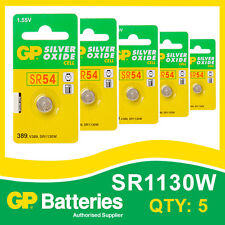 Gp oxyde d'argent bouton batterie 389 (SR1130) carte de 5 [watch & calculatrice]