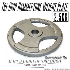 2x2.5kg Standard Solid Cast Iron Hammertone Weight Plate 28mm Weightlifting