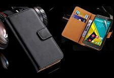 Genuine Leather Case Wallet For 2018 Samsung Galaxy J6