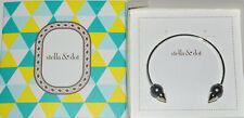 Stella & Dot Pearl Spike Cuff Bracelet Silver in Box