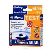 Waterlife Ammonia Test Kit Ammonium Testing NH3 NH+4 50 tests aquarium fish tank