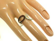 GABRIEL & CO. STERLING SILVER & GARNETS RING - SIZE 6.5 US - NEW - RETAIL $150