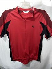 Pearl Izumi Mens Red Black Zip Front Bicycle Athletic Shirt Top Size Sz Xl X Lrg