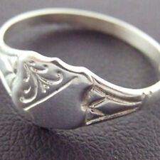 RING REAL 925 SOLID STERLING SILVER ANTIQUE CELTIC SHIELD SIGNET DESIGN SIZE O