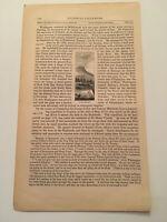 K39) View of Torn Rock Ramapo New Jersey American Revolution 1860 Engraving