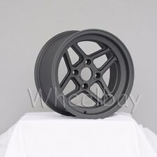 4 NEW ROTA WHEEL TBT 15X8 4X100 0  MAG BLACK 15.5 LBS