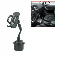 Universal Black Adjustable Car Mount Cup Holder Stand Cradle for Cell Phone