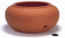 Garden Hose Reel Pot Terra Cotta Storage Outdoor Yard Water Durable Holder Decor