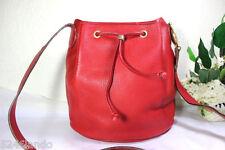 Vintage Christian DIOR RED Leather Bucket Drawtop Shoulder Bag France