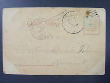 Harcourt Iowa IA 1907 Type 2/4 Doane Cancel Postmark on Postcard Webster Co RARE