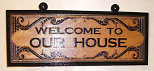 Personalized,Custom Wood Sign.WELCOME TO OUR HOUSE Birch..Laser engraved.Gift.