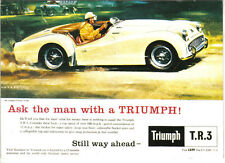 Triumph TR 3 A MODERN postcard issued by Vintage Ad Gallery