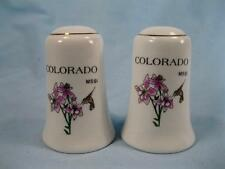 Colorado MSSI Salt & Pepper Shaker Set Rocky Mountain Columbine Lark Bunting (O)