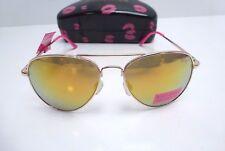 BETSEY JOHNSON Women's Sunglasses 100% UV Protection Avaitor w/Case New