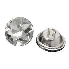 50pcs Crystal Diamante Rhinestone Round Buttons Upholstery Headboard Sofa C L6u4