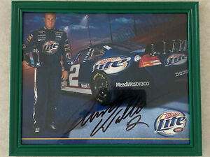 Signed Autographed Rusty Wallace 8x10 Framed Picture #2 Miller Lite Dodge Mobil