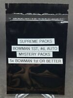 Baseball Cards - Supreme Mystery Packs Bowman 1st - 5x Bowman 1st per pack!