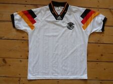 "GERMANY FOOTBALL shirt large (42-44"") 1992 DEUTCH SOCCER JERSEY maglia camiseta"