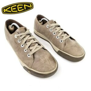 KEEN Men's Beige Rubber Leather Sneaker 9.5
