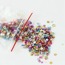 5000Pcs Mixed Glitter Sequins Heart Star Flower Nail Art Stickers Decal DIY 3mm