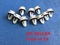 JAGUAR XF CARD SIDE SKIRT BUMP PANEL LINING REPAIR TRIM CLIPS PACK OF 10