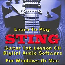 STING Guitar Tab Lesson CD Software - 27 Songs