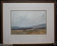 Irish Art Original Oil Painting of HOLYWOOD HAYFIELDS by local Artist TOM KERR