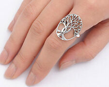 USA Seller Tree of Life & Leaf Ring Sterling Silver 925 Best Deal Jewelry Size 5