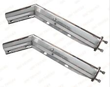 """QSC Stainless Steel Angled Spring Loaded Mud Flap Hanger Pair 2.5"""" Bolt Pattern"""
