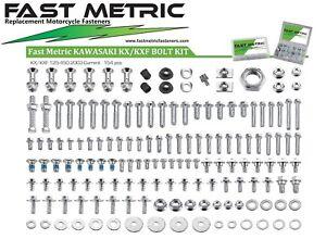 KAWASAKI BOLT Kit 156pc KX KXF 60 85 100 125 250 250F 450 500 KXF250 KXF450