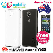 Clear TPU Gel Jelly iSkin Case Coverfor Huawei Ascend Y635+Screen Protector