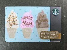 STARBUCKS Card Christmas 2015 - I love You more than Ice cream - Free Shipping